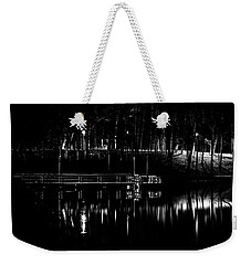 Fishing Dock At Night 2017  Weekender Tote Bag by Thomas Young