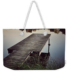 Weekender Tote Bag featuring the photograph Fishing Dock by Karen Stahlros