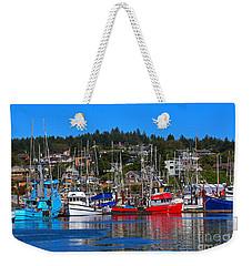 Fishing Fleet At Newport Harbor Weekender Tote Bag