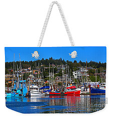 Fishing Fleet At Newport Harbor Weekender Tote Bag