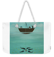 Fishing For Time Weekender Tote Bag by Tone Aanderaa