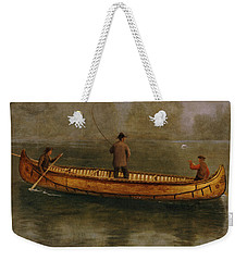 Fishing From A Canoe Weekender Tote Bag