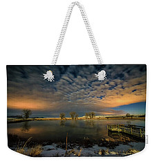 Fishing Hole At Night Weekender Tote Bag