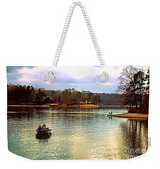 Weekender Tote Bag featuring the photograph Fishing Hot Springs Ar by Diana Mary Sharpton