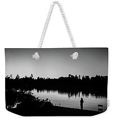 Fishing In Black And White Weekender Tote Bag