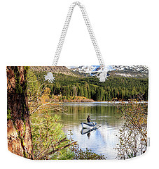 Weekender Tote Bag featuring the photograph Fishing In Manzanita Lake by James Eddy