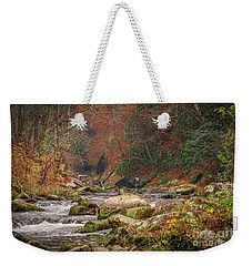 Fishing In Mountain Stream Weekender Tote Bag