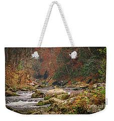Fishing In Mountain Stream Weekender Tote Bag by Tom Claud