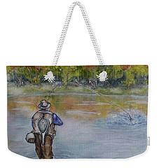 Fishing In Natures Beauty Weekender Tote Bag