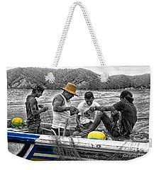 Fishing In Puerto Lopez Weekender Tote Bag