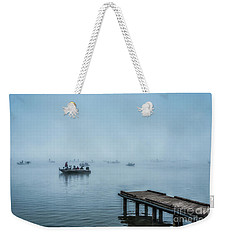 Fishing In The Fog Summersville Lake  Weekender Tote Bag