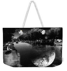 Fishing In The Moonlight Weekender Tote Bag