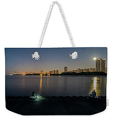 Fishing In The Moonlight Weekender Tote Bag