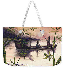 Fishing In The Sunset   Weekender Tote Bag