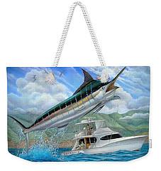 Fishing In The Vintage Weekender Tote Bag