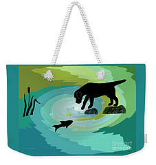Fishing Labrador Dog Weekender Tote Bag