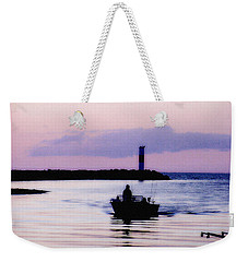 Weekender Tote Bag featuring the photograph Fishing Lake Ontario  Lake Ontario  by Iconic Images Art Gallery David Pucciarelli