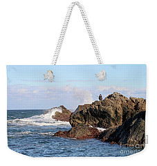Weekender Tote Bag featuring the photograph Fishing by Linda Lees