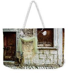 Fishing Net Hanging In The Streets Of Rovinj, Croatia Weekender Tote Bag