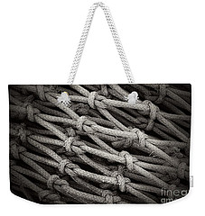 Fishing Nets Weekender Tote Bag by Clare Bevan