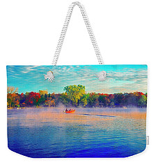 Fishing On Crystal Lake, Il., Sport, Fall Weekender Tote Bag
