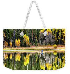 Fishing On Dream Lake Colorado Weekender Tote Bag