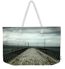 Weekender Tote Bag featuring the photograph Fishing Pier by Perry Webster