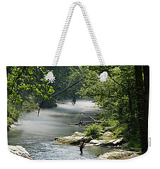 Fishing The Gunpowder Falls Weekender Tote Bag by Donald C Morgan