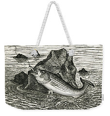 Fishing The Rocks Weekender Tote Bag by Charles Harden