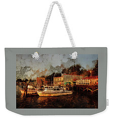 Weekender Tote Bag featuring the photograph Fishing Trips Daily by Thom Zehrfeld
