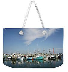 Fishing Vessels At Galilee Rhode Island Weekender Tote Bag