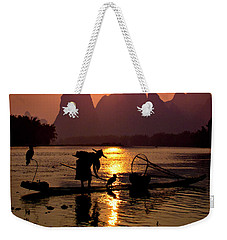 Fishing With Cormorants Weekender Tote Bag