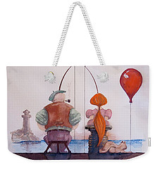 Fishing With Grandpa Weekender Tote Bag by Geni Gorani