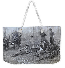 Fishing With The Boys Weekender Tote Bag