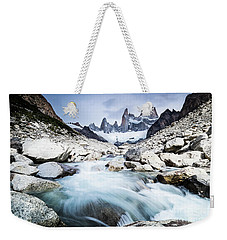 Fitz Roy On A Cloudy Day  Weekender Tote Bag