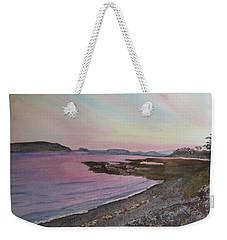Weekender Tote Bag featuring the painting Five Islands - Draft IIi by Joel Deutsch