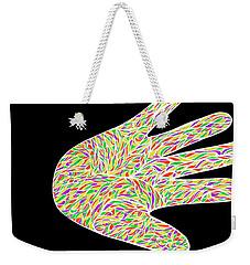 Weekender Tote Bag featuring the drawing Stop Bulling Live As One by Jamie Lynn