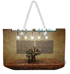 Five Lights And Potted Plants Weekender Tote Bag