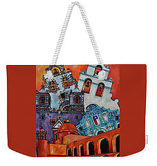 Weekender Tote Bag featuring the painting Five Missions by Patti Schermerhorn