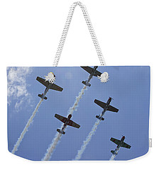 Weekender Tote Bag featuring the photograph Five Out Of Six by Miroslava Jurcik