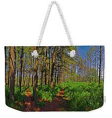 Paths, Pines 360 Weekender Tote Bag