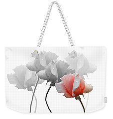 Weekender Tote Bag featuring the photograph Five Roses by Rosalie Scanlon