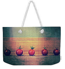 Five Tomatoes Weekender Tote Bag by Michelle Calkins
