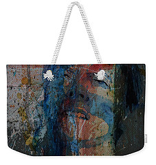 Weekender Tote Bag featuring the painting Five Years by Paul Lovering