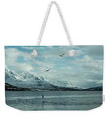 Fjord Landscape In The North Of Norway  Weekender Tote Bag by Tamara Sushko