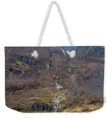 Weekender Tote Bag featuring the photograph Fjord Waterfall by Suzanne Luft