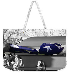 Flag For The Fallen - Selective Color Weekender Tote Bag