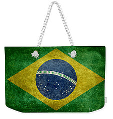 Flag Of Brazil Vintage 18x24 Crop Version Weekender Tote Bag