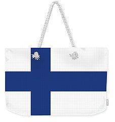 Weekender Tote Bag featuring the digital art Flag Of Finland by Bruce Stanfield