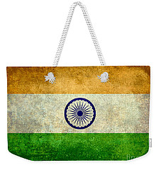 Flag Of India Vintage 18x24 Crop Version Weekender Tote Bag